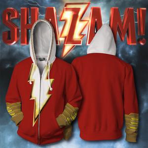 DC Comics El FlashShazam de impresión en 3D de la chaqueta de traje de Cosplay sudaderas con capucha 01 hombres con la cremallera Superhero suelta y cómoda
