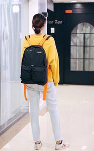 ow Tasche Herren-Accessoires schwarzer Rucksack Orange Gurt tragbarer Stil Jugend Straße Trend Freizeit große Kapazität freies Schiff