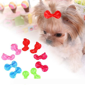 A 10pcs 50pcs Candy Color Resin Pet Hairpin Puppy Cat Bowknot Hairpin Accessories Handmade Dog Hair Grooming Accessories