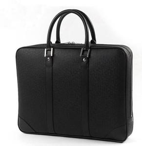 2018 famosa marca simple para hombre bolsa de maletín de cuero sólido gran hombre de negocios bolsa de 14 pulgadas bolso del ordenador portátil de pasta ejecutiva masculino