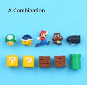 10шт 3D Super Mario Bros Холодильник Магниты Холодильник Магнит сообщение Наклейка Люди Взрослого Девочка Мальчик Дети дети игрушка подарок на день рождения