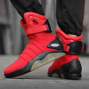 7ipupas Neue Männer Boot USB aufladbare glühender Sneaker Luft mag Stiefel für Mann-Frauen-Partei Schuhe zurück zur Zukunft Boot