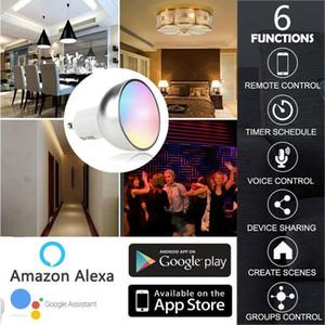 Bombilla LED inteligente WiFi 5W GU10 RGB Luz de control remoto para ECHO Alexa Página principal de Google