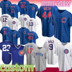 9 Javier Baez Anthony Rizzo 2020 sezonu Chicago Beyzbol Jersey Kris Bryant Ryne Sandberg Yu Derviş Kyle Schwarber Willson Contreras Bote