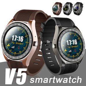 V5 الذكية ووتش بلوتوث 3.0 لاسلكية Smartwatches SIM الذكي الهاتف المحمول ووتش inteligente ريلوخ لالروبوت الهواتف المحمولة مع صندوق