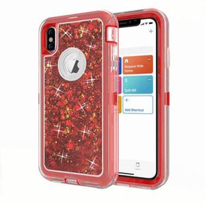 Hibrid Ağır Vaka fior iPhone XS Max 3D Glitter Dinamik Quicksand Ultra Darbeye Telefon Kılıfları iPhone X 8 Artı XS XR 7