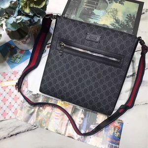 Los hombres bolsa con cremallera cuadrada crossbody hermosas de banda de cuero real Impreso embrague monederos bolsos de la manera clásica para hombres de negocios de alta calidad
