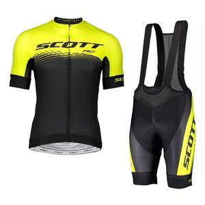 SCOTT Takım 2019 Yarış Giyim bisiklet Forması set Erkekler yaz hızlı kuru kısa kollu Mtb bisiklet Kıyafetleri açık bisiklet spor üniforma Y073103