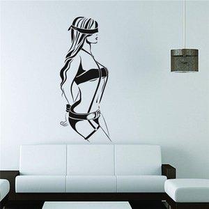 Papier Peint Autocollant Decal Deco Nuances Fille Menottes Soumis Sexe Home Decor Art Decor Mignon Autocollant Mural