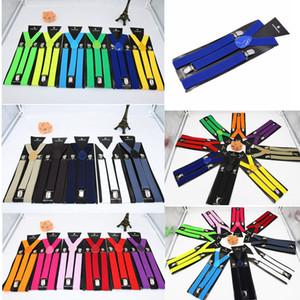 2,5 centímetros Unisex Suspender Belt Vintage Homens Suspender shirt Fique Moda Suspensórios Sólidos Casual 3 Clips estilo britânico Acessórios FFA4782 FFA3782