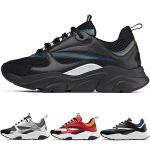 Hot Designer 2018-2019 New D Uomo Tela e formatori di pelle di vitello Fashion New Sneakers B22 Trainer Scarpe da maglia tecnica