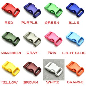 """NEW 100pcs lot 5 8""""(16mm) Colorful Contoured Side Release Buckles for Paracord Bracelets Free Shipping"""