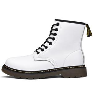 Dr chaussures Designer femmes hommes doc 1460 bottes martin luxe plateforme de mode martins botte chaussures pas cher noir Botas bottes blanc