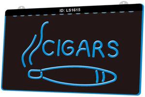LS1615 сигары дым магазин новый 3D гравировка светодиодный свет знак настроить по требованию несколько цветов