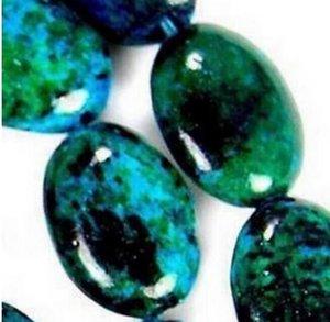 LIVRAISON GRATUITE Perles Azurite Chrysocolla Gem Ovale Loose bijoux mode Perle 15 « »