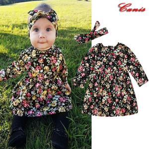 Pudcoco Brand New Summer Baby Girls imprimé floral Vêtements Robe Enfants Fille Robes Vêtements pour bébés