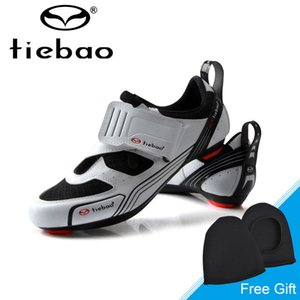 Tiebao New Men Road Bike Bicycle Shoes Anti-slip Breathable Cycling Shoes Triathlon Athletic Sport Zapatos bicicleta