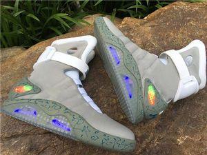 2019 дизайнерская обувь Air mag Back to the Future McFly LED мужские кроссовки Mag модные роскошные серые женские сапоги