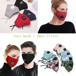 Face Mask Filter PM2.5 Air Pollution Anti Dust and Nose Protection Reusable with Breathing Valve Face Mask
