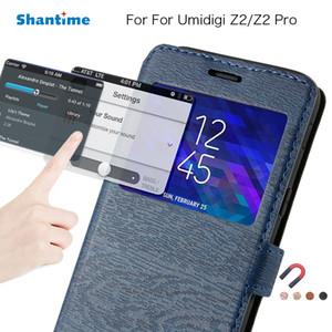 Negócios pu leather phone case para umidigi z2 flip book case para umidigi z2 pro janela de exibição case soft tpu silicone tampa traseira