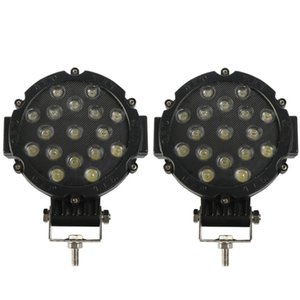 NEW-2Pcs 7 Inch LED Offroad Lights Bar 51W Spot Bumper Driving Headlight Fog Light for Off Road, Truck, ATV, SUV,
