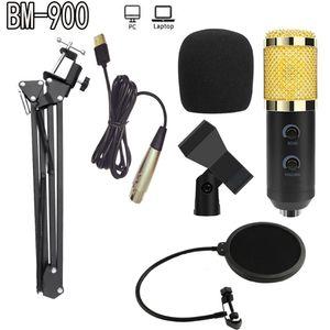 de haute qualité nouvelle BM-900 Podcast microphone Enregistrement avec support professionnel à condensateur studio Microphone Broadcasting Microphone à condensateur