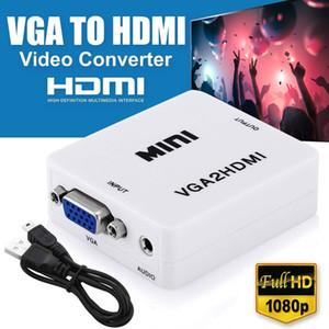 1080P VGA a HDMI convertitore VGA2HDMI convertitore del connettore con audio per PC portatile al proiettore HDTV