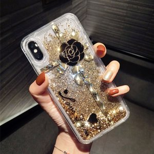 Suitable for Apple xs 7plus soft silicone edge for iphone 8 flash powder quicksand 11 pro max mobile phone protective shell