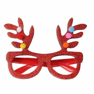 1pcs 2020 Nouvel An Lunettes Cadeaux Joyeux réveillon de Noël Décorations festives pour la maison Ornements Décor Arbre de Noël Père Noël cerf bonhomme de neige