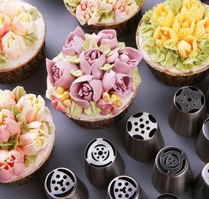 27 Pcs gâteau de luxe de décoration de petit gâteau de décoration fournitures Nozzles Kit tuyauterie russe Conseils Set pour les fournitures Cupcake cookies Kit