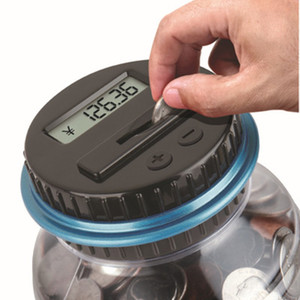 Large Piggy Bank Counter Coin Electronic Digital LCD Counting Coin Money Saving Box Jar Coins Storage Box For USD EURO Money