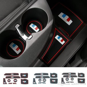 Car Door Mats Gate Slot Cushion Cup Holder Pads Rubber For Chevrolet Camaro 2017 UP Car Interior Accessories