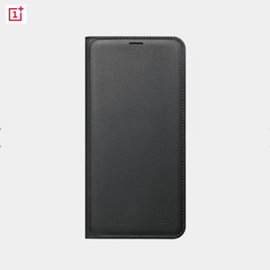 Stock Original Official Oneplus 5T PU Leather Flip Case Smart Leather Cover with Sleep Wake Up Card Slot for One Plus 5T Funda