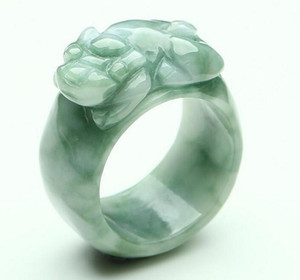 Jade crafts Myanmar jade a cargo shallow lucky ring natural jade wholesale
