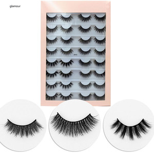 Eyelashes book 16 pair 3D Faux mink lashes 16 Pairs False Eyelashes 3D Mink Eyelashes clear band Eye Lashes Mink Makeup Thick