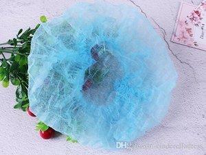 100 ADET / LOT Salgın Önleme Kadınlar Erkekler Tek Kullanımlık Saç Net Toz Cap Sanayi Olmayan Dokuma Şapka Fabrikası Saç Koruyucu Stretch Şapka FY4024