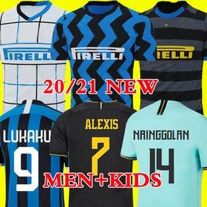 ERIKSEN Лукаку LAUTARO дом вдали Интер 2019 2020 2021 футбол Джерси Милан Барелла 19 20 21 футбол верхней рубашки для мужчин Детские наборы наборы униформу