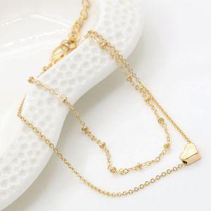 Bracciali a cuore Braccialetti Colore argento dorato Braccialetti in metallo Dichiarazione Gioielli Braccialetti affascinanti all'ingrosso a doppio strato all'ingrosso