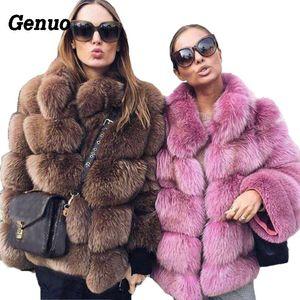 Genuo Thick warmer Winter-Pelz-Mantel-Frauen-Pelz-Jacken-Herbst-beiläufige Art und Weise Größe Oberbekleidung plus Overcoat 2018