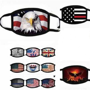 New men and women's cotton facial masks cotton wash protective masks American flag printed leopard print Face Masks