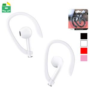 Taşınabilir Kulakhaneler Tutucu Apple Airpods Için Kablosuz Kulakiçi Kulaklık Aksesuarları TPU Spor Perakende Paketi ile Anti-Kayıp Kulak Kancası