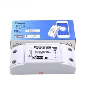 Sonoff Basic Wifi Switch Wireless Remote Control Smart Switch WIFI Automation Module DIY Timer Set Work With Alexa 10A 2200W