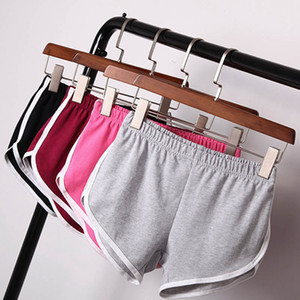 7 Colors Women Solid Colors Sports Shorts Pants Gym Leisure Homewear Fitness Pants Summer Shorts Beach Running Exercise Pants