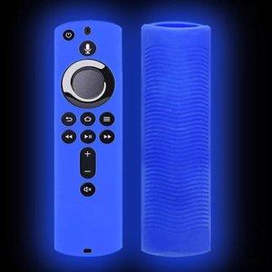 Funda protectora de fuego del Amazonas Stick de TV 4K Stick de TV remoto piel de la cubierta protectora de la caja de control de silicona luminosa