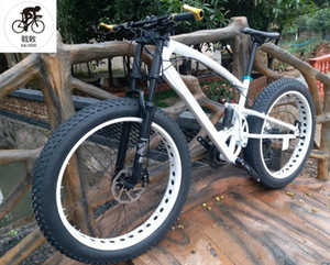 Kalosse DIY Renkler 26 * 4.0 Lastikler 17 Inç Hidrolik Frenler Microshift Yağ Bisiklet, Kar Bisikleti 27 Hız Dağ Bisikleti