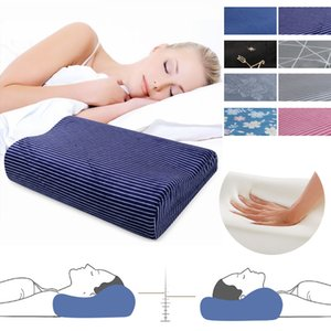1pc Memory Foam Pillow Fiber Slow Rebound Pillows Massager Orthopedic Latex Neck Pillow Cervical Health Care 50x30cm