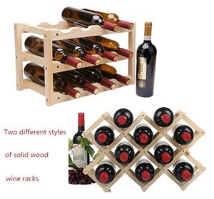 Red Wine Rack 10 12 en bois Bouteille Porte-Mont Bar Affichage étagère pliante en bois Wine Rack alcool Neer soins Porte-bouteille de boisson