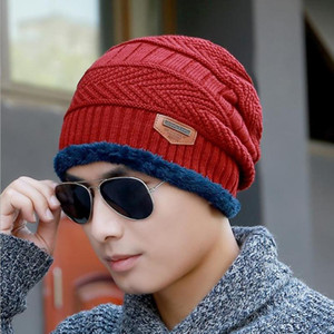 Hat + Scarf Portable Beanie Acrylic Woolly Knitted Winter Sun Visors Apparel 2020 Fleece Warm Ski Cap