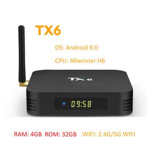 4GB RAM 32GB ROM anakart BOX Shenzhen fabrikası Promosyon Ürün TX6 H6 Akıllı OTT Android TV Box