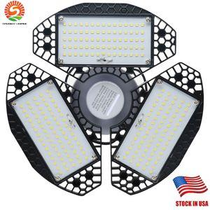 Garagem Luz Led 7200 Lumen 360 ° Grande Angular Screw-in 60W Super Bright LED branco Diodes com 3 painéis ajustáveis para garagem Oficina Barn